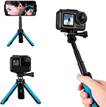 TELESIN Extendable Tripod Stand Mount Handheld Selfie Stick Telescopic Monopod Pole for GoPro Hero 8 Hero 7 Hero 6 Hero 5 Hero 4/3+, Session 4/5, DJI Osmo Action, Osmo Pocket and More Action Cameras