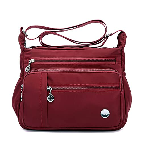 fd32b92eb4f Waterproof Nylon Shoulder Crossbody Bags - Handbag Zipper Pocket