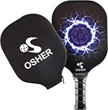 OSHER Pickleball Paddle Graphite Pickleball Racket with Cover Honeycomb Composite Core Pickleball Paddle Set Ultra Cushion Grip Low Profile Edge Bundle Graphite Pickleball Paddles Racquet