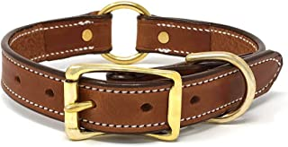 Leather Dog Collar Center Medium