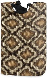 N\A Panier à Linge Serpent imprimé Peau d'animal Panier à Linge Pliable Grand Sac de Rangement, Sac de vêtements Organisat...