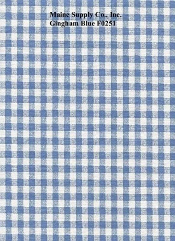 Blue Gingham Check Series F0251 Vinyl Tablecloth 54 X 45 Roll