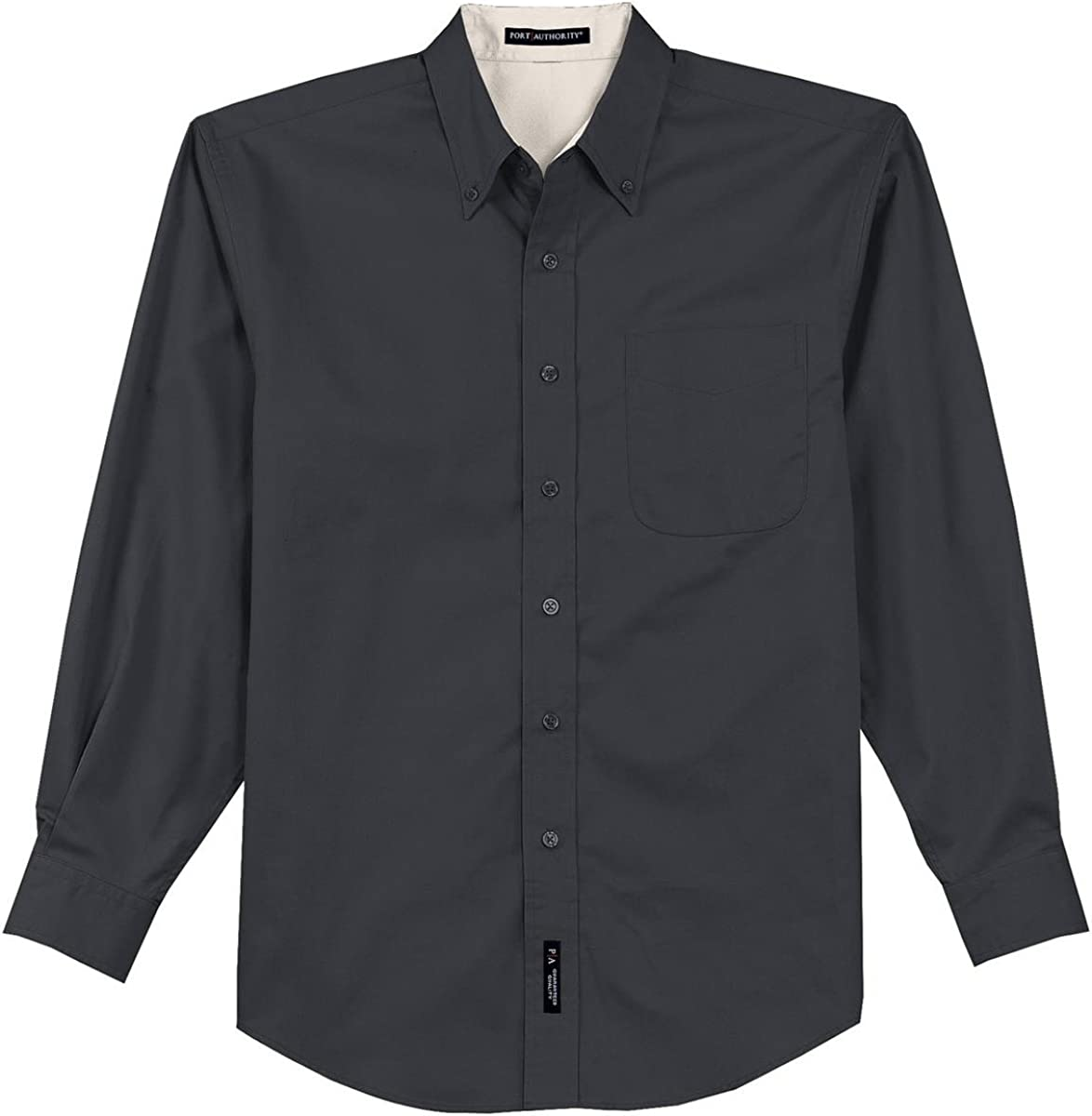 Port Authority Tall LS Easy Care Shirt-XLT (Classic Navy/Light Stone)