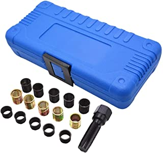 Lasamot 16Pcs Kit di Utensili per Riparazione Filettatura Candela M16 Inserto per Bobina filettato M14