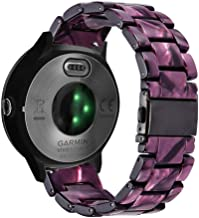 Abanen Watch Band for Garmin Vivoactive 3/Vivomove 3, 20mm Quick Release Resin Lightweight Wristband Strap with Stainless Steel Buckle for Garmin Vivomove HR/Style/Luxe (Purple)