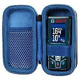 co2CREA Duro Viajar Caso Cubrir para Bosch Professional Medidor láser de distancia GLM 40/GLM 50 C(Negro/Cremallera azul)