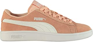 Official Brand Puma Smash v2 Suede Trainers Juniors Girls Peach/White Shoes Sneakers Footwear