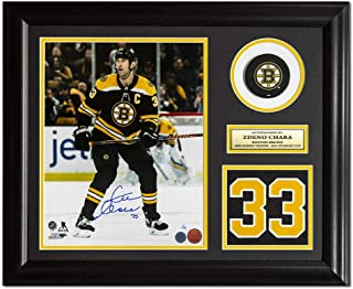 Signed Zdeno Chara Jersey - Action Number 23x19 Frame #/33 - Autographed NHL Photos