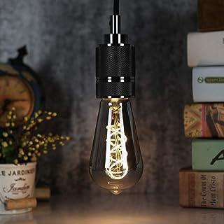TIANFAN Led Ampoules Ampoule Vintage 4W Dimmable Verre Fumé 2700K Blanc Chaud Vis Edison E27 Base 220 / 240V Ampoules Déco...