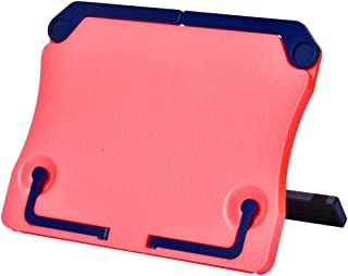 MOREYES Table Music Stand, Book Reading Stand, Portable Foldable for Reading, Music Sheet, Cook Book,Document (pink)