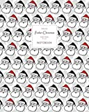 Father Christmas Notebook - Ruled Pages - 8x10 - Premium: (Grey Multi Edition) Fun Santa notebook 192 ruled/lined pages (8x10 inches / 20.3x25.4 cm / Large Jotter)