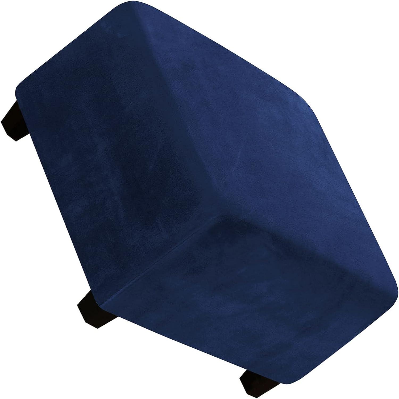 Footstool Cover Velvet Plush Ottoman Sq Slipcover Finally shop popular brand Stretch