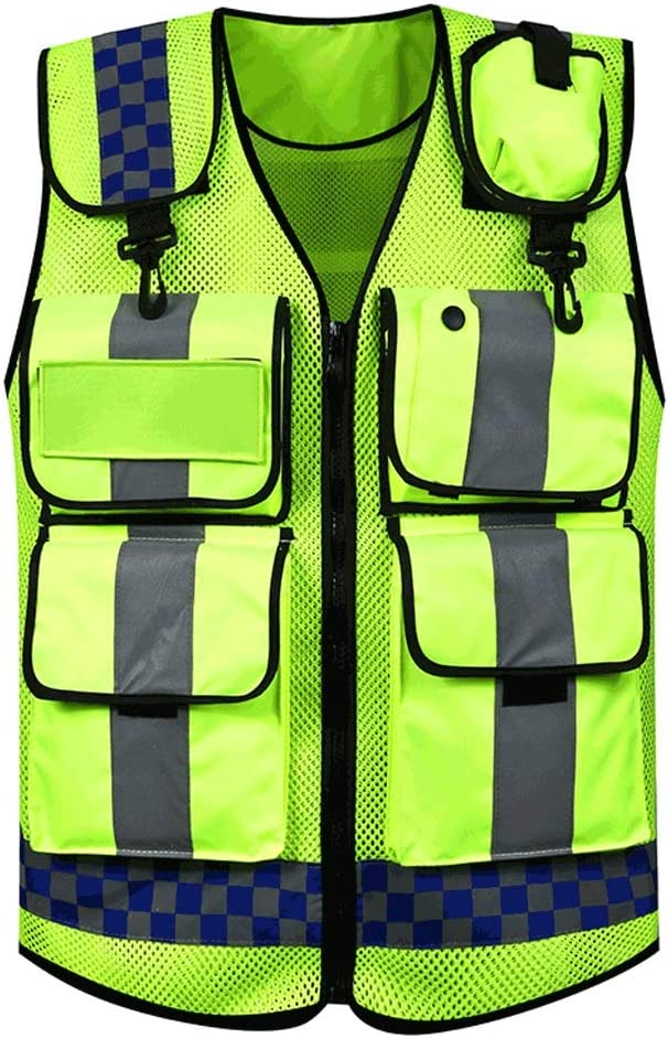 NNR free Reflective trend rank Clothing High Multifunctio Visibility Safety Vest