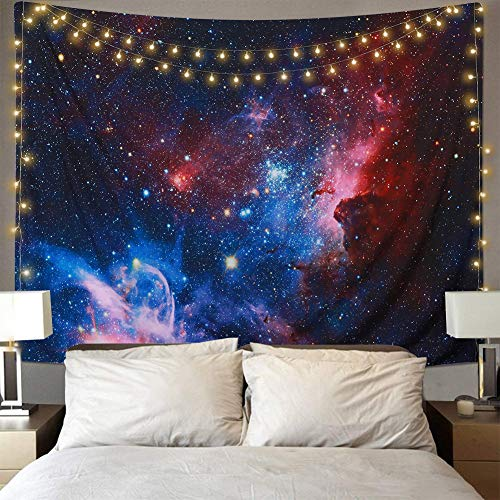 Dremisland Star Galaxis Tapisserie Wandteppich Tapestry Sandy Beach Handtuch Yoga Mat Wand Picknick Decke Strand Tuch Wandtuch Wandbehang (L/229X153cm(90X60inch))