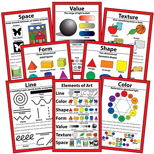 """Elements of Art Posters 12"""" X 18"""" (Set of 8)"""
