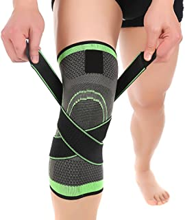Knee Sleeve, Compression Fit Support -for Joint Pain and Arthritis Relief, Improved..