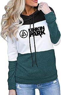 Bopkkgjer Linkin Park Pullover Leichte dünne Sweatshirt Standard Rundhalsauskleidung Frauen Klassische Grundschichten Herbst Winddichte Hoodies Mit Kapuze Elegante Pullover Unisex
