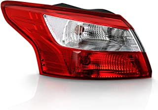 ACANII - For 2012 2013 2014 Ford Focus 4-Door Sedan Tail Light Lamp Rear Assembly Outer Replacement Left Driver Side
