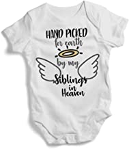 Promini Colourful Hand Picked for Earth by My Siblings in Heavens Baby Bodysuit Cute Infant Bodysuit Baby Romper