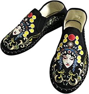 Hombre Alpargatas Zapatos Planos Tradición China Estampado Bordado Zapatos de Lona Unisex Parejas Zapatos de Casuales Anti...