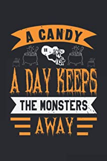 A Candy A Day: Happy Halloween-Bible Study Journal: A Creative Christian Workbook: A Simple Guide To Journaling Scripture,...