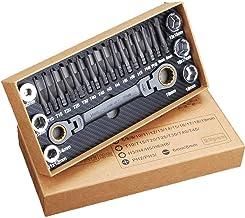 Funien 23 PCS Conjunto de bits de chave catraca multi-ângulo Conjunto de ferramentas de manga Conjunto de ferramentas de r...