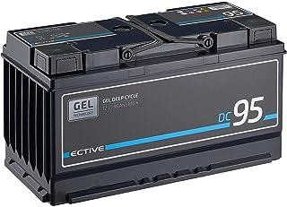 ECTIVE 95Ah 12V Gel Versorgungsbatterie DC 95 Deep Cycle Solar Batterie VRLA Zyklenfest in 2 Varianten (wartungsfrei)