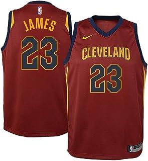 e9ee9673e Nike Lebron James Cleveland Cavaliers NBA Youth Burgundy Road Dri-Fit  Swingman Icon Jersey