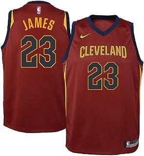 Lebron James Cleveland Cavaliers NBA Youth Burgundy Road Dri-Fit Swingman Icon Jersey