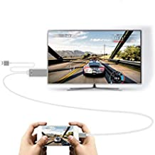C-zone 3in1 USB 2.0 to HDMI HDTV HD Mirroring Adaptor Cable compatible with iPhone7/6S/6/ 7 plus/6plus compatible Samsung galaxy S6/S6 edge/C9 pro/C5/J7/Note 5/HUAWEI-Sliver