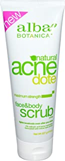 Alba Botanica Acnedote Face & Body Scrub, Maximum Strength 8 oz ( Pack of 3)