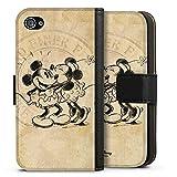 Étui Compatible avec Apple iPhone 4s Étui Folio Étui magnétique Disney Minnie & Mickey Mouse Cadeaux Merch