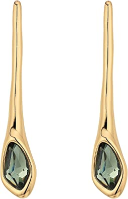 Robert Lee Morris - Green and Gold Stick Earrings