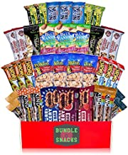 Variety Healthy Snack Box (37 Count) | Healthy Gift Basket of Assorted Packaged Granola Bars, Breakfast Bars, Nuts, Peanuts, Almonds, Fruit Bars | For Work Breakroom, Fitness, College Dorm Military