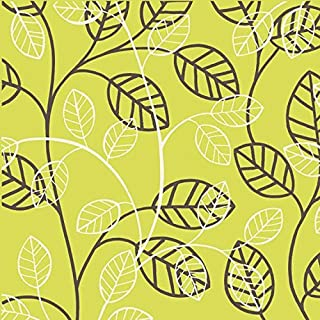 Leaf & Vine Tossed on Chartreuse Green Cotton Fabric - Heritage Studio Collection (Great for Quilting, Sewing, Craft Projects, Throw Pillows & More) 1/2 Yard X 44