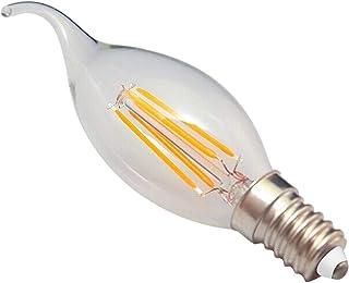 SGJFZD E14 Warm White Cool White LED COB Light Bulb Glass Shell LED Candle Light Bulb Edison 4W AC220-240 (Color : Warm Wh...