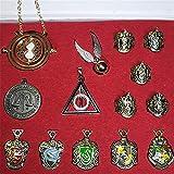 EisEyen 15 unids/Set Harry Potter Hermione Dumbledore Voldemort Varita mágica con Caja de Halloween Harri Potter Chico Hogwarts Varita mágica de Regalo