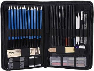 Cocoarm Crayon à Croquis 48 Pièces Croquis Dessin Professionnel, Kit de Croquis Dessin avec Sac Ensemble de Dessin Haute Q...
