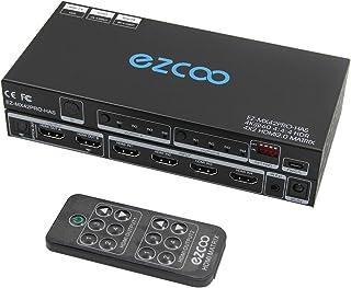 EZCOO HDMI 2.0 マトリックス 4x2 4K 60Hz HDR ドルビー ビジョン SPDIF、PC コンソール ファームウェア アップグレード、HDMI スケーラー ラン 4K 1080P 一緒 に、オプティカル トスリンク 5....