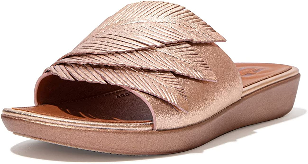 FitFlop Women's Sola safety Sandal Feather Max 50% OFF Slides