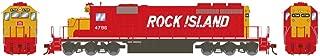 Athearn HO RTR SD40-2 w DCC & Sound RI #4796, ATH71633