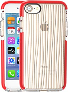 QFH Ripples Pattern D30 + TPU Cases for iPhone 8 & 7 new style phone case (Color : Color3)