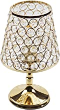 Floodoor Crystal Table Lamp Decorative Bedside Desk lamp with Golden Crystal Shade for Bedroom, Living Room, Dining Room, Coffee Table, Bookcase