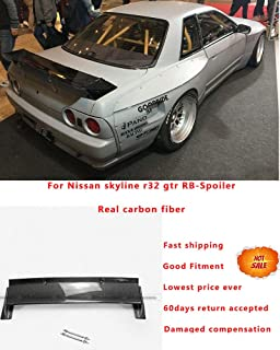 FidgetGear for Nissan Skyline R32 GTR Carbon Fiber RB-Style Rear Trunk Spoiler Wing Lip Kit