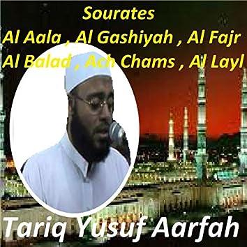 Sourates Al Aala, Al Gashiyah, Al Fajr, Al Balad, Ach Chams, Al Layl (Quran)
