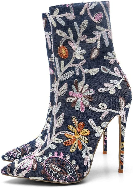 EleStiefel EleStiefel EleStiefel Frauen Stiefel Wildleder Winter geschlossene Zehe Mode wies High Heels Schnee wasserdicht Knöchel (34-43 Größe)  ef1f85
