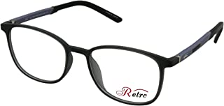 RETRO Unisex-adult Spectacle Frames Square 3010 M.Dark Grey/Black