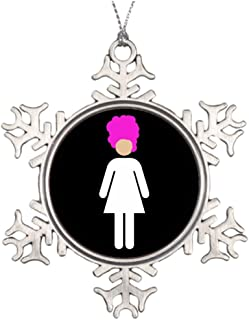 Huky Personalised Christmas Tree Decoration Drag Queen Family Christmas Snowflake Ornaments