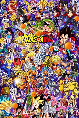 FPRW Rompecabezas de Madera de Anime, Rompecabezas de la colección Dragon Ball de 1000 Piezas, para niños Adultos Juego Familiar Dificultad Desafío Rompecabezas