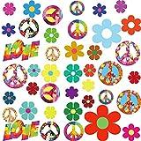 84 Pieces 60's Hippie Theme Party Stickers...